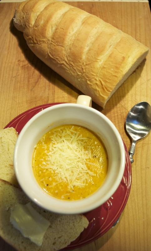 ... » Blog Archive Creamy Tomato Basil Parmesan Soup - Lisa's Scribbles