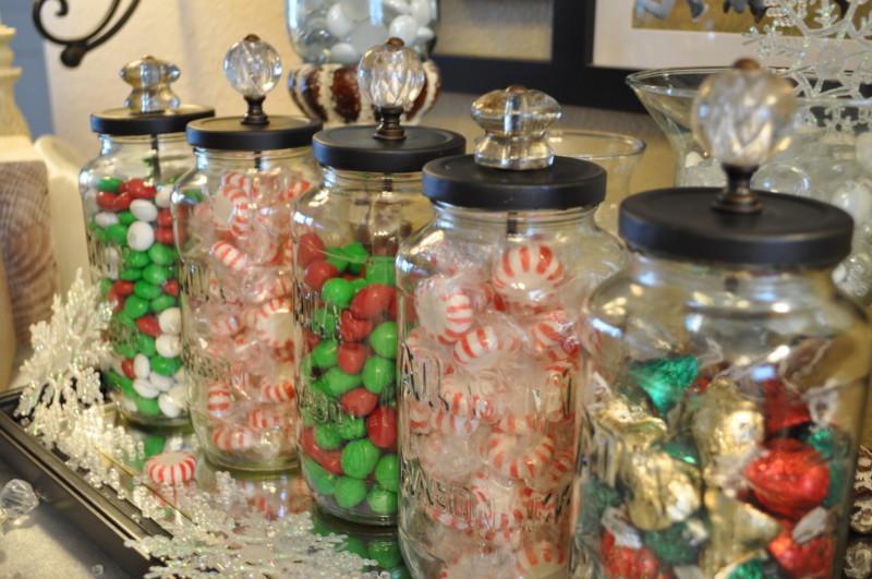 diy christmas candy jars - Christmas Candy Jars