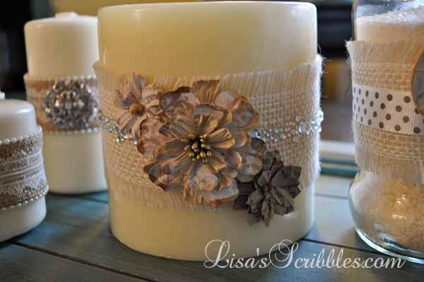 DIY Christmas – Custom Decor Candles