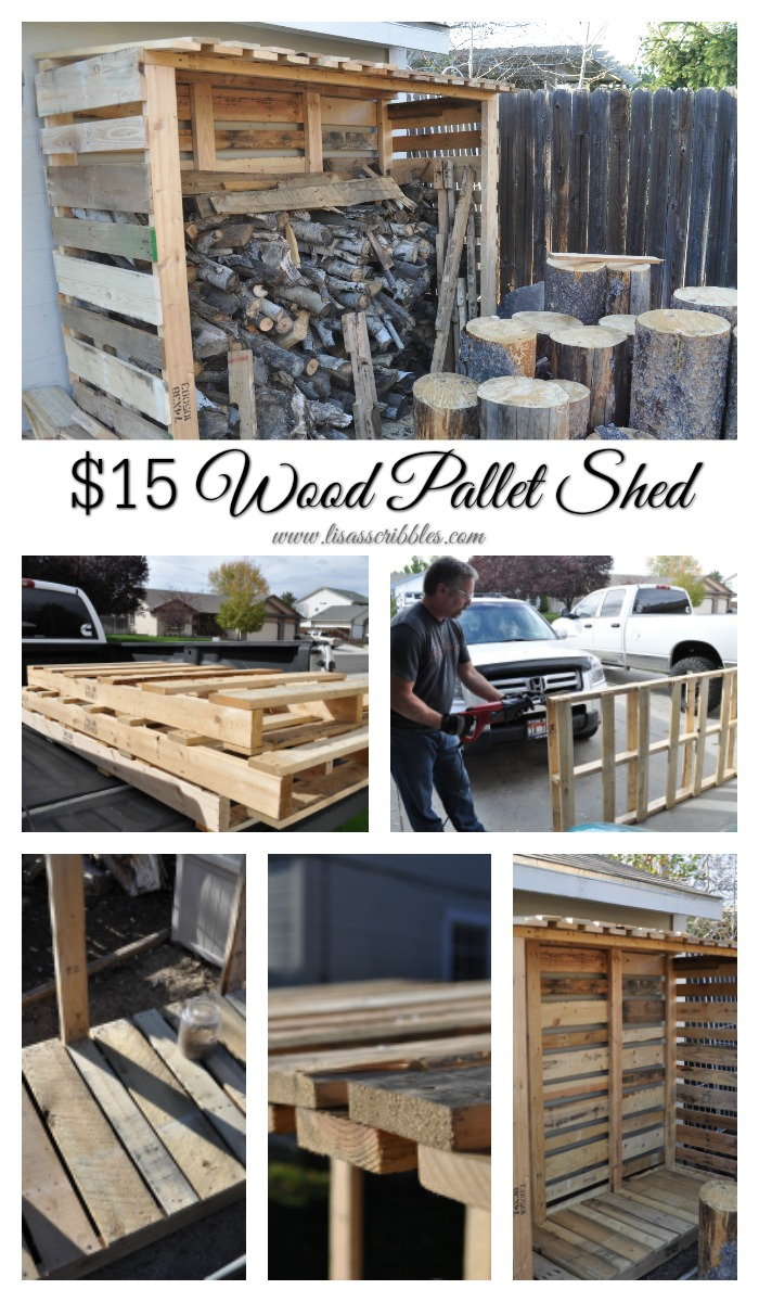 $15 Wood Pallet Shed