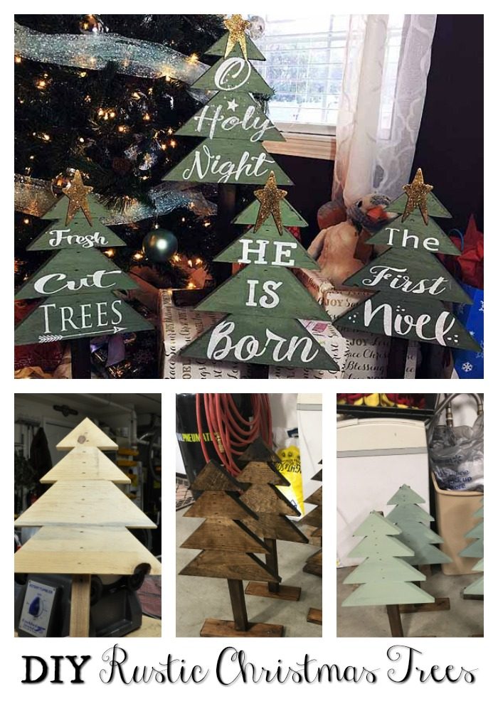 DIY Christmas – Rustic Trees