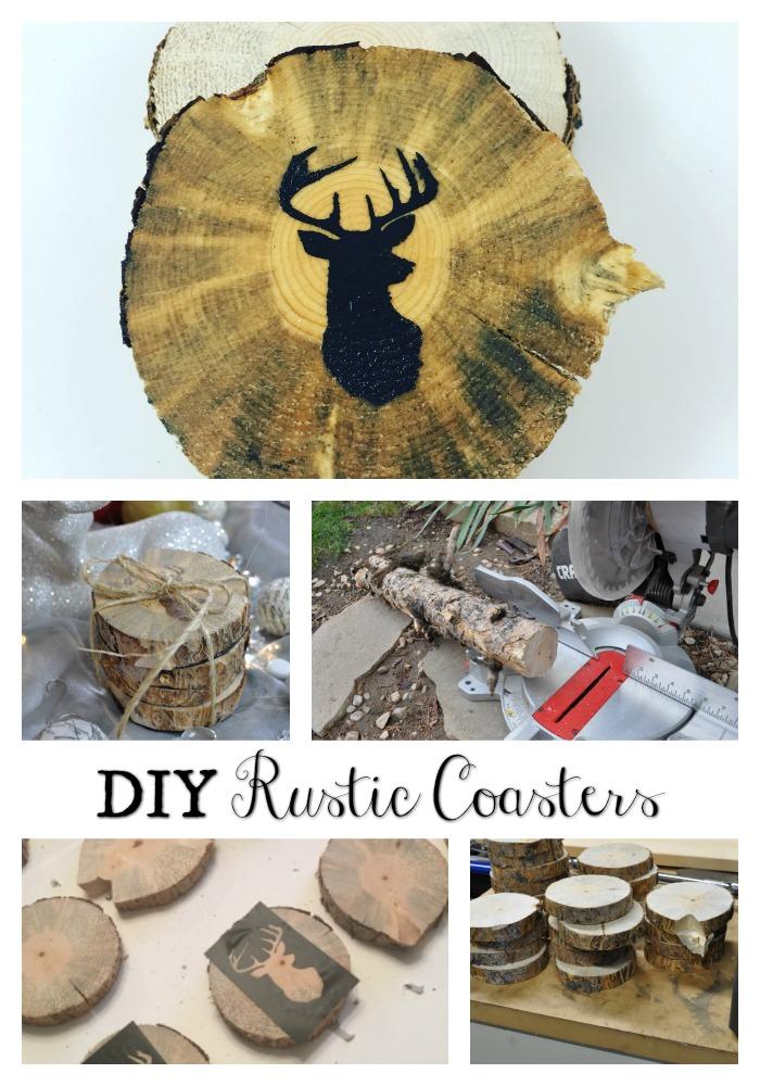 DIY Christmas – Rustic Woodland Coasters